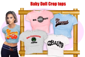 Click for Baby Doll Crop Tops